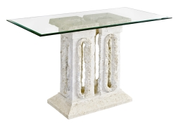 Designer's Mactan Stone Tower Console Table