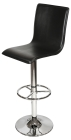 L Shaped Breakfast/ Kitchen Bar Stool in Black