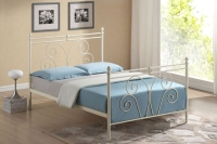 Beautiful Wallace Metal Bed with Choice of Mattresses