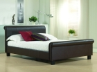 Aurora Faux Leather Bed with Choice of Mattresses