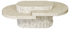 Mactan Stone Birma Oval All Stone Coffee Table