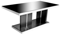 Twilight Black Glass Top Dining Table