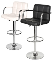 Padded Seat Kitchen/ Breakfast Bar Stool With Arms