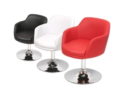 Bucketeer PU Dining Chair in Black, Red and White Colour