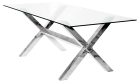 Clear Glass Crosley Rectangular Dining Table with Choice of Chairs