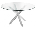 Clear Glass Crosley Dining Table with Circular Top