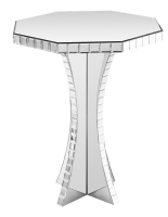 Octagonal Mirrored End Table/ Side Table