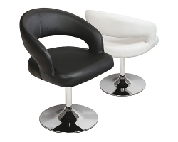 Clinick PU Dining Chair in Black and White Colour