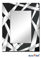 CrissCross Wall Mirror with Bevelled Glass - Large Size Unique Designer Wall-Mounted Mirror - Hang P