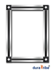 City Block Wall Mirror with Bevelled Glass - Large Size Unique Designer Wall-Mounted Mirror - Hang P