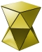 Mirrored Triangles Pedestal Gold