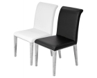 Kirkland Dining Chair in Black and White Colour