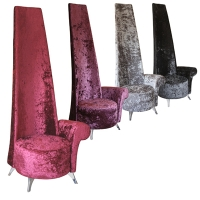 Potenza Crushed Velvet Chair