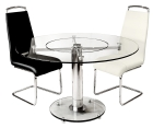 Clear Glass Lazy Suzan Round Dining Table
