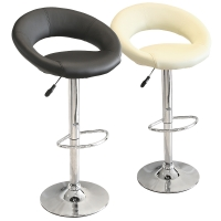 New Moon Kitchen Breakfast Bar Stool In Black or Cream