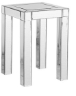 Clear or Black Mirrored Pedestal Table/ Side Table/ End Table