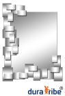 Manhattan Wall Mirror with Bevelled Glass - Large Size Unique Designer Wall-Mounted Mirror - Length: