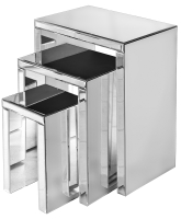 Mirrored Nest of Tables/ Used as Side Tables or End Tables
