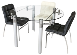Alicia Extending Glass Dining Table