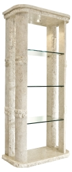 Mactan Stone Rockedge Etagere with Light