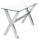 Clear Glass Crossly Rectangular Console Table