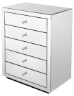 Stylish and Practical Mirrored 5 Drawer Unit