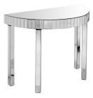 Semi Circle Mirrored Console Table