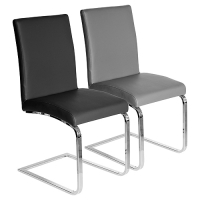 Sprung Steel Dining Chair in Black and Grey Colour
