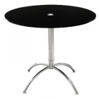 Luna Black Glass Round Dining Table