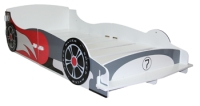 Speed Racer Single Bed in White Colour