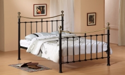 Elegant Brass Elizabeth Bed with Choice of Mattresses