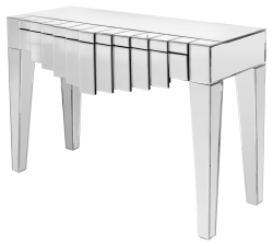 Unsually Designed 1 Drawer Manhattan Mirrored Console Table