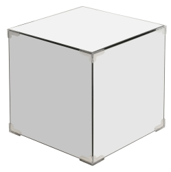 Black or Clear Mirrored Storage Cube/ Side Table/ End Table