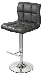 Padded Seat Kitchen Breakfast Bar Stool in Black Colour