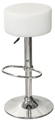 White Button Top Kitchen Breakfast Bar Stool