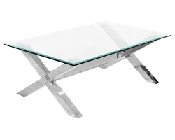 Contemporary Rectangular Crossly Coffee Table