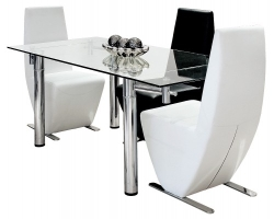 Rectangular Extending Glass Dining Table