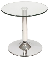 Glass Bistro Side Table for Flower Decorations