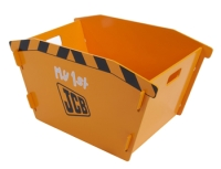 Stylish JCB Skip Toybox in yellow painted finish
