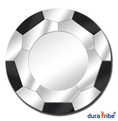 Soccer Wall Mirror with Bevelled Glass - Large Size Round Wall-Mounted Mirror - 80 cm Diameter