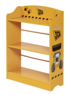 JCB Bookcase in a yellow paint finish