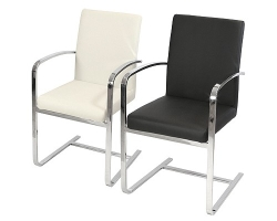 Sprung Steel Carver Dining Chair in Black and Grey Colour