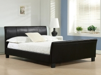Winchester Faux Leather Bed in Double or King with Choice of Mattress