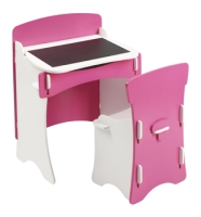 Blush Desk & Chair in white and pink finish