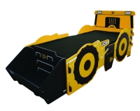 JCB Single Bed in a yellow painted finish