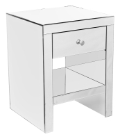Unique Mirrored 1 Drawer Bedside Table - Bedside Cabinet