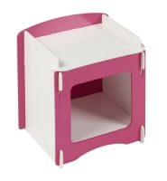 Blush Bedside in white and pink paint finish