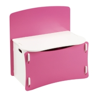 Blush Toy Box in white and pink paint finish
