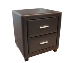 Amazing Leather 2 Drawer Bedside Cabinet