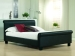Aurora Faux leather bed Black